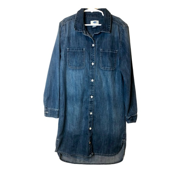 Old Navy long sleeve denim shirt dress